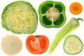 Vegetables, cross section Stock Photos