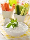 Vegetables with dip Stock Photography