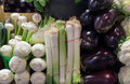 Vegetables on display in farmer's market Royalty Free Stock Photo