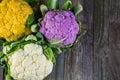 Vegetables fresh organic vegetable in season on old farm table Royalty Free Stock Image