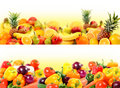 Vegetables and fruit composition Royalty Free Stock Photography