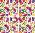 Vegetables and fruits background cartoon Stock Images