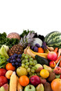 Vegetables and fruits collection of different Royalty Free Stock Image