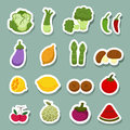 Vegetables and fruits icons Royalty Free Stock Photo
