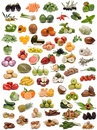 Vegetables, fruits and nuts. Stock Photo