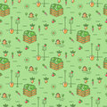 Vegetables garden seamless pattern Agriculture background