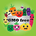 Vegetables gmo free on green background Stock Images