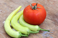 Vegetables green pepper with tomato Royalty Free Stock Photo