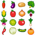 Vegetables icon set various fresh illustration very usefull for food fruits theme Royalty Free Stock Images