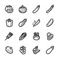 Vegetables icons – bazza series professional vector for your website application and presentation Royalty Free Stock Image