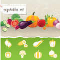 Vegetables icons Royalty Free Stock Image
