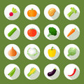 Vegetables Icons Flat Set Royalty Free Stock Photo