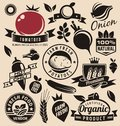 Vegetables icons, labels, signs, symbols, logo layouts and design elements Royalty Free Stock Photo