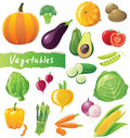 Vegetables icons set Royalty Free Stock Photo