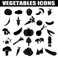 Vegetables icons set on white background vector illustration Stock Photography