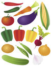Vegetables Illustration Isolated on White Stock Images