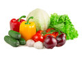 Vegetables isolated on white background Stock Images