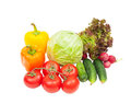 Vegetables isolated on white background Stock Photos
