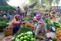 Vegetables market in Myanmar Stock Photography