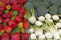 Vegetables on a market stand Royalty Free Stock Image
