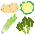 Vegetables with nutritional value Stock Photo