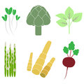 Vegetables with nutritional value Stock Photos