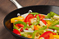 Vegetables in the pan Stock Photography