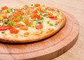 Vegetables  pizza.Neapolitano ,Close-up Stock Image