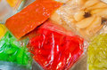 vegetables preserved in vacuum packed bags Royalty Free Stock Photo