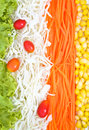 Vegetables salad fresh background Royalty Free Stock Image