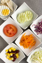 Vegetables salad fresh ingredient for healthy eating Stock Image