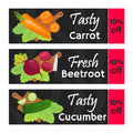 Vegetables sale - organic, vegetarian nutrition. Fresh garden product. Market labels