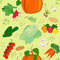 Vegetables seamless pattern Royalty Free Stock Photos