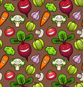 Vegetables. Seamless Pattern Royalty Free Stock Photo