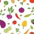 Vegetables seamless pattern a fresh Stock Photography
