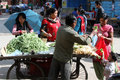 Vegetables for sell patan nepal circa november dealer on the street with Royalty Free Stock Image