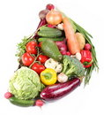 With vegetables in a semicircle Royalty Free Stock Photo