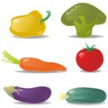 Vegetables set color illustration Stock Images