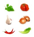 Vegetables set illustration on white background Stock Images