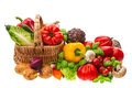 Vegetables. shopping basket. healthy nutrition Royalty Free Stock Photo