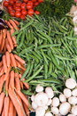Vegetables stall Royalty Free Stock Photography