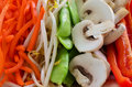 Vegetables for stir fry fresh sliced ready Stock Photography