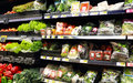 Vegetables at the supermarket a view of of a wide variety of fresh organic a aisle Royalty Free Stock Photography