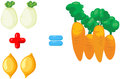 Vegetables to learn mathematics Royalty Free Stock Photography