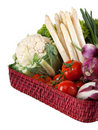 Vegetables on a tray Royalty Free Stock Photos