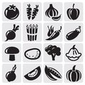 Vegetables vector set Royalty Free Stock Photography