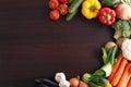 Vegetables On Wood Background ...