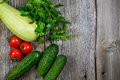 Vegetables on wood. Bio Healthy food, Organic vegetables on wood Royalty Free Stock Photo
