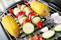 Vegetarian barbecue a with some delicacies on it Stock Images