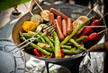 Vegetarian barbeque Stock Photos